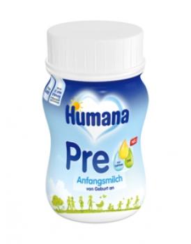 Humana Anfangsmilch PRE trinkfertig, 90 ml, 24er Karton