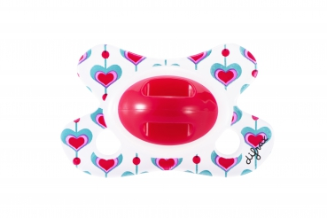 "Difrax Schnuller ""Red Hearts"""