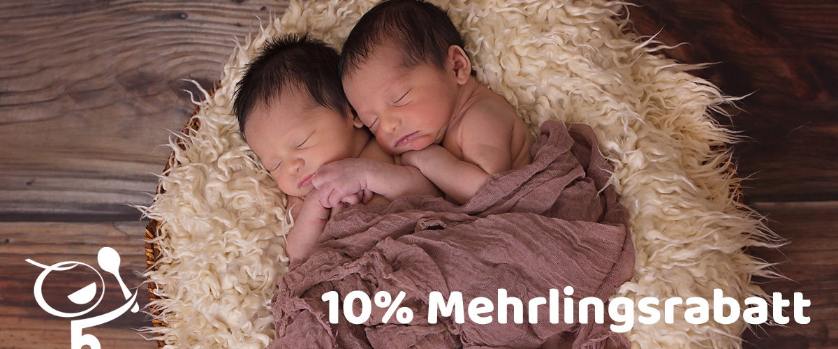 Unser 10% Mehrlingsrabatt